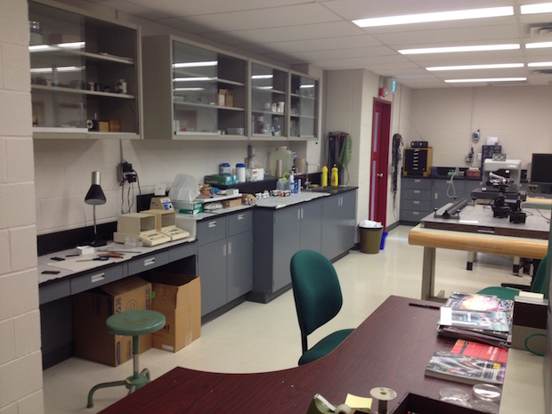 main lab area